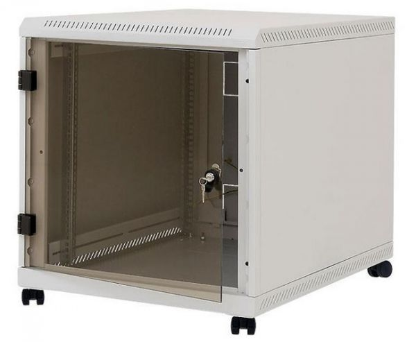 """19"""" Untertisch-Netzwerkschrank RCA, 12 HE, 600 x 800 mm, lichtgrau RAL 7035"""