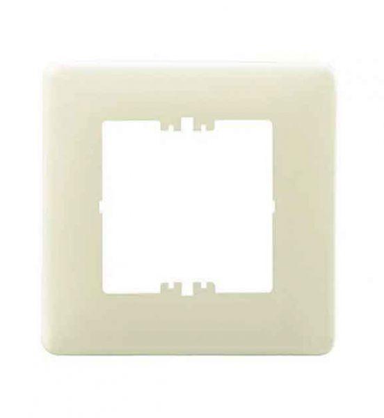 Rutenbeck Abdeckplatte für Datendosen, perlweiß ähnl. RAL 1013